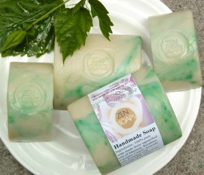 white chocolate mint soap
